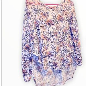 Ardene High low floral knit sweater